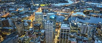 Sydney CBD and West Sydney at night