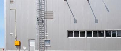 External industrial warehouse shot