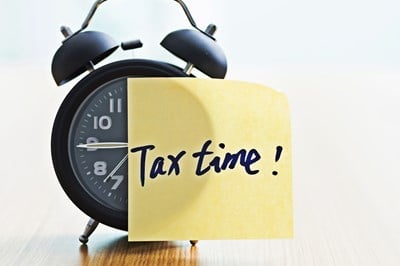 Tax time alarm clock