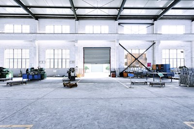 Internal shot of industrial warehouse